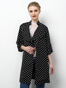 2018春夏装女装圆点衬衫