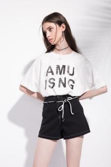2018夏季新款字母T恤