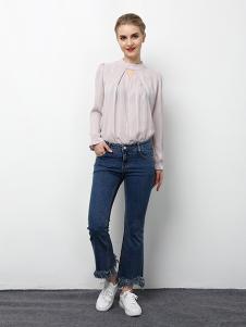 2018春夏装女装雪纺衬衫