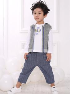 皇后婴儿男童时尚两件套