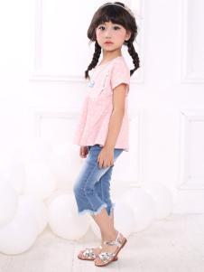 皇后婴儿女童夏款甜美套装