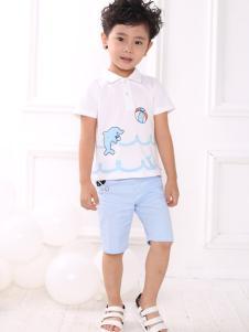 皇后婴儿男童白色可爱衬衫