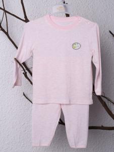 皇后婴儿婴童粉色内衣套装