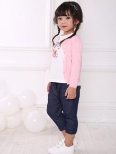 皇后婴儿女童时尚两件套