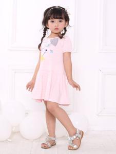 皇后婴儿2018女童粉色连衣裙