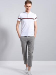 UNKUT恩咖男装白色POLO衫