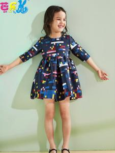 芭乐兔童装18女童连衣裙