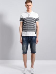 UNKUT恩咖男装18英伦时尚T恤