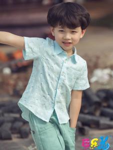 芭乐兔童装男童衬衫