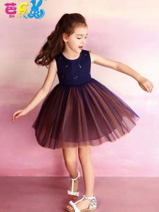 芭乐兔童装女童拼接连衣裙