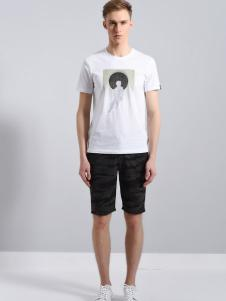 UNKUT恩咖男装18白色T恤