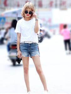 ASKACUI&YAYA女装牛仔短裤