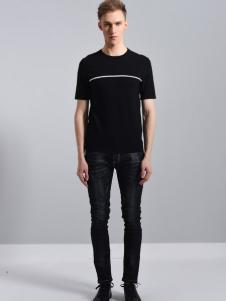 UNKUT恩咖18黑色休闲T恤