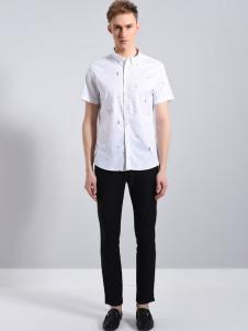 UNKUT恩咖男装白色短袖18新款