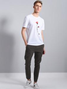 UNKUT恩咖男装夏款白色T恤