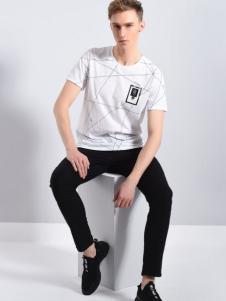 UNKUT恩咖18夏款白色T恤