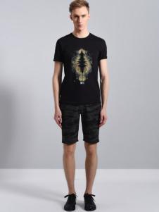 UNKUT恩咖男装 18黑色T恤