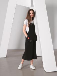 TT夏装黑色连体裤