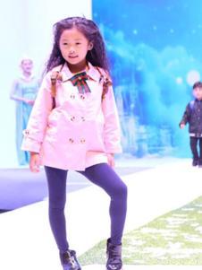 安拉拉童装粉色休闲外套