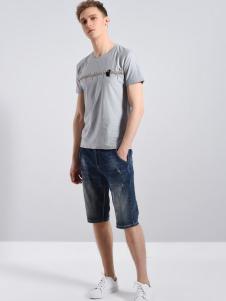 UNKUT恩咖男装经典灰色T恤