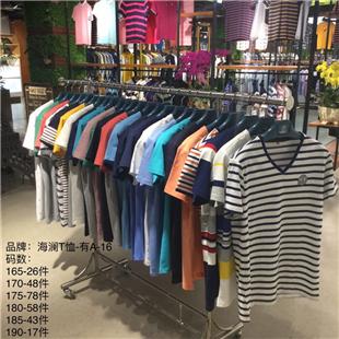 厂家直供批发地摊t恤货源生产厂家低价处理库存尾货品牌男女装