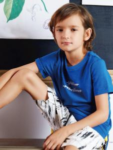 YukiSo男童18蓝色T恤