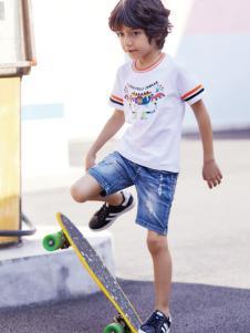 杰米熊童装夏季新款男童T恤