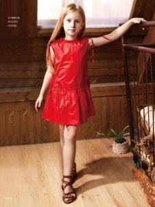 YukiSo女童18红色连衣裙