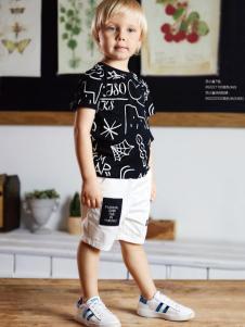 YukiSo童装男童18印花T恤
