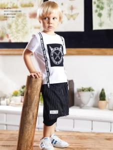 YukiSo男童18新款白色T恤