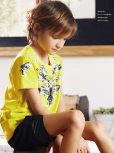 YukiSo18男童黄色T恤