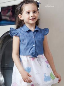 杰米熊女童装18夏款连衣裙