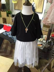 波姆熊童装网纱半裙
