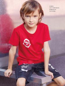 YukiSo男童红色T恤18新款