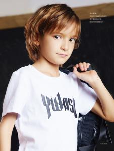 YukiSo男童白色经典T恤18新款