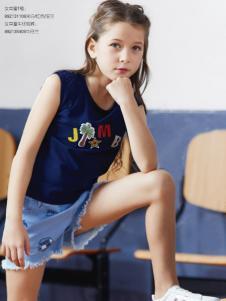 杰米熊2018夏季新款女童T恤
