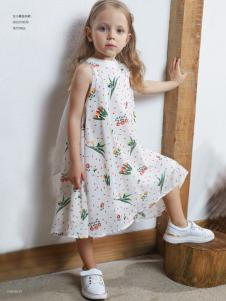 YukiSo女童印花裙18新款