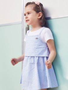 杰米熊童装女小童18夏款裙子