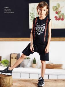 YukiSo童装男童夏款时尚套装