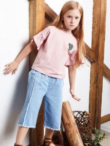 YukiSo女童粉色18T恤