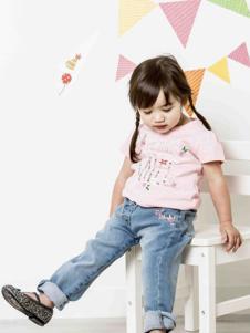 米诺特童装粉色短袖T恤