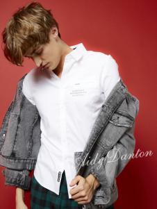 爱迪丹顿春夏新款深灰色牛仔外套