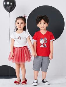 嗒嘀嗒夏装新款红色T恤