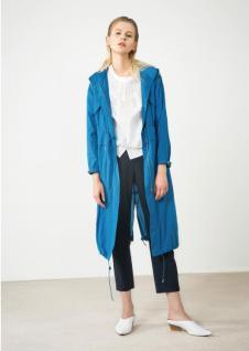 2018夏季新款青色长款外套