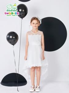 嗒嘀嗒夏装新款白色连衣裙