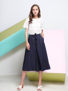 Loyer.Mod容悦新款蓝色半身裙