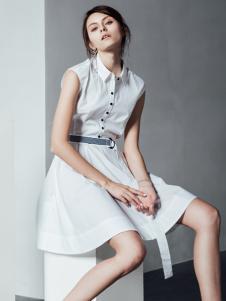 阿莱贝琳白色连衣裙