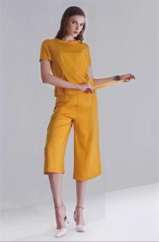 K·Fenfani凯·芬梵妮姜黄色休闲套装