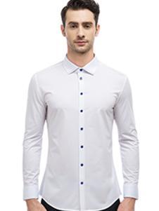 微奢零度男装百搭白色休闲衬衫