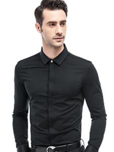 微奢零度男装黑色衬衫